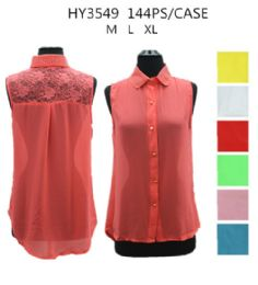 36 of Womens Fashion Summer Button Down Shirt Assorted Color