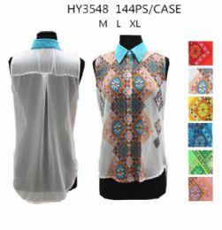 36 of Womens Fashion Summer Button Down Printed Shirt