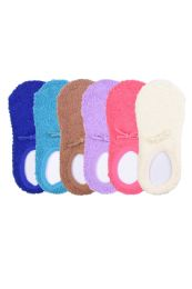 120 of Women's Plush Soft Slipper Socks With Gripper Bottom Size 9-11