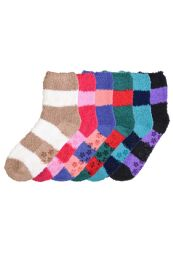 120 of Women's Plush Soft Socks With Gripper Bottom Size 9-11