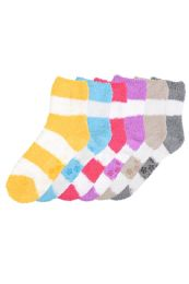 120 of Women's Plush Soft Socks With Gripper Bottom Size 9-11