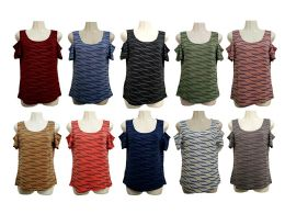 48 of Womens Assorted Color Tee