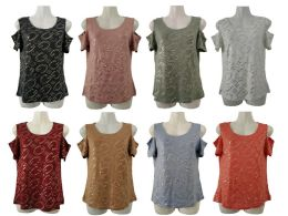 48 of Womens Assorted Color G Tee