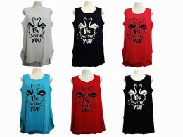 48 of Womens Assorted Color Be With You Tank Top