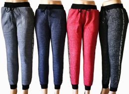 48 of Womens Winter Fur Lined Love Joggers