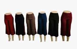 48 of Womens Loose Straight Solid Color Pants With Stripe