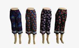 48 of Womens Loose Straight Floral Pants