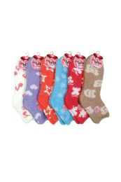 120 of Women's Patterned Plush Soft Socks Size 9-11