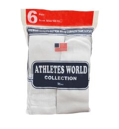 120 of Men's White Over The Calf Tube Sock, Size 10-15