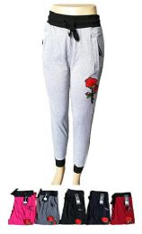 48 of Womens Active Yoga Lounge Sweat Pants With Pockets And Rose