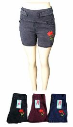 48 of Womens Solid Color Ultra Stretch Fitted Low Rise Shorts