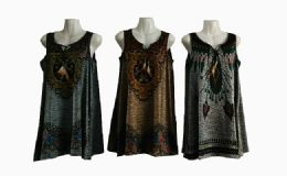 48 of Womens Fashion Tank Top Assorted Color With Tassel