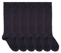 6 of Yacht & Smith Womens Knee High Socks, Comfort Soft, Solid Colors (Navy Blue)