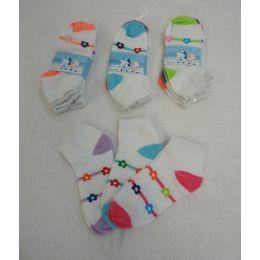 360 of Girl's Anklet Socks 6-8 [Stripes & Daisies]