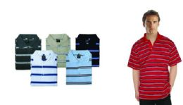 48 of Mens Regular Fit Quick Dry Stripe Polo Shirt