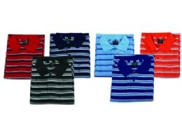 48 of Mens Regular Fit Cotton Striped Polo Shirt