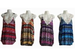 120 of Womens Summer Sleeveless Casual Tank Tops Basic Lace