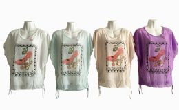 48 of Womens Short Sleeve High Heel Loose T Shirt Basic Tee Tops