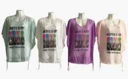 48 of Womens Short Sleeve Guitar Loose T Shirt Basic Tee Tops