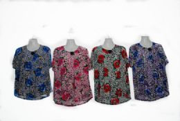 48 of Womens Blouse Short Sleeve Floral Print T Shirt Comfy Casual Tops For Women