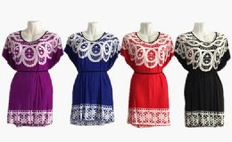 48 of Womens Round Neck Short Sleeve Blouse Tops Fashion Casual Tunic Shirts