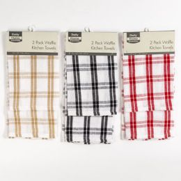 48 of Kitchen Waffle Towel 2pk 16x24 3 Colors