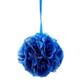 36 of Six Inch Silk Flower Blue