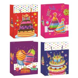 72 of Birthday Glitter Gift Bag Extra Large