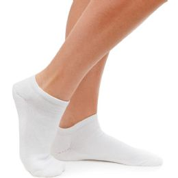 60 of SOCKS'NBULK Unisex Kids White Low Cut No Show Trainer Cotton Ankle Socks Size 6-8 BULK PACK