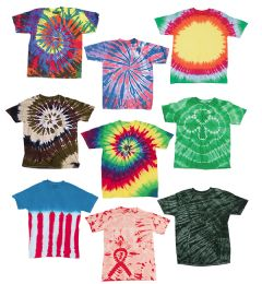72 of Adult TiE-Dye T-Shirts In Assorted Colors And Sizes