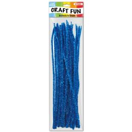 96 of Twelve Inch Tinsel Stem Blue