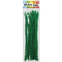 96 of Twelve Inch Tinsel Stem Green