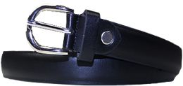36 of Kids Genuine Leather Fashion Belts In Black