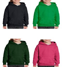 24 of Youth Gildan Irregular Assorted Color Hooded Pullover, Size Small