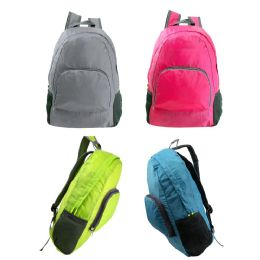 """24 of 17"""" Ultra Lightweight Foldable Backpack In 4 Assorted Color"""