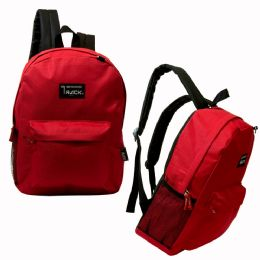 """24 of 17"""" Classic Red Backpack"""