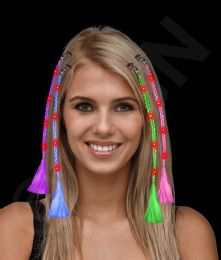 36 of Led Light Up Braided Hair Extensions - Assorted