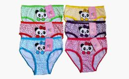 72 of Girls Cotton Panty Assorted Colors & Sizes