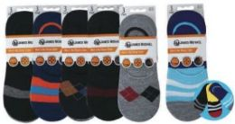 48 of Mens No Show Loafer Socks Size 10-13 Assorted Prints, Priced Per Pair