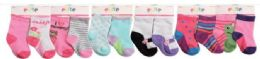 144 of Toddler Girls Crew Socks Size 6-12 Months