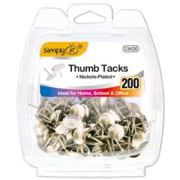 96 of Silver Thumb Tack 20 Count