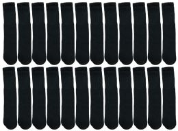 24 of Yacht & Smith 28 Inch Men's Long Tube Socks, Black Cotton Tube Socks Size 10-13
