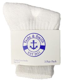 240 of Yacht & Smith Kids Value Pack Of Cotton Crew Socks Size 2-4 White