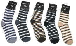 180 of Mens Stripe Color Fuzzy Socks