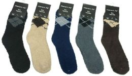 180 of Mens Argyle Color Fuzzy Socks