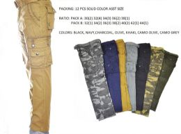 12 of Men's Fashion Cargo Pants 100% Cotton Size Scale B Only