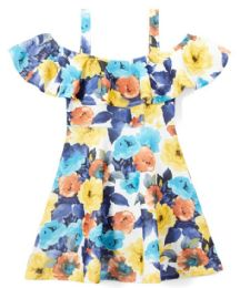 6 of Girls Flower Print Dress In Size 4-6x