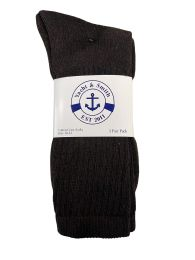 24 of Yacht & Smith Men's Cotton Terry Crew Socks Size 10-13 Brown Bulk Pack