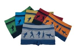 48 of Boy's Sport Printed Boxer Briefs