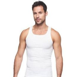 72 of Mens Cotton A Shirt Undershirt Solid White Assorted Sizes
